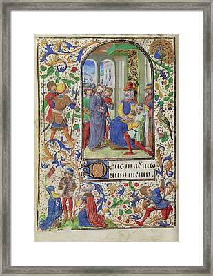 Christ Before Pilate Lieven Van Lathem, Flemish, About 1430 Framed Print by Litz Collection