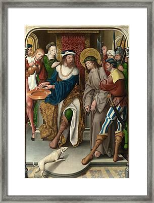 Christ Before Pilate Framed Print by Master of Cappenberg