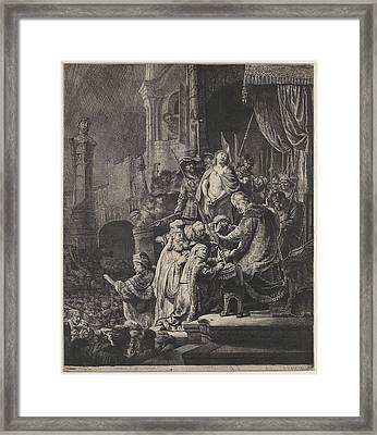 Christ Before Pilate Framed Print by Rembrandt