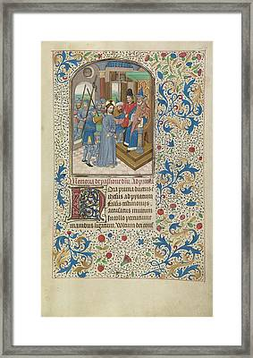 Christ Before Pilate Willem Vrelant, Flemish, Died 1481 Framed Print by Litz Collection