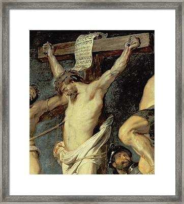 Christ Between The Two Thieves, 1620 Framed Print