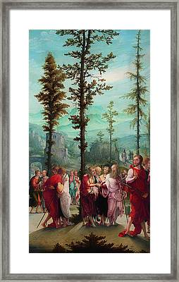 Christ Bids Farewell To The Apostles Framed Print by Mountain Dreams