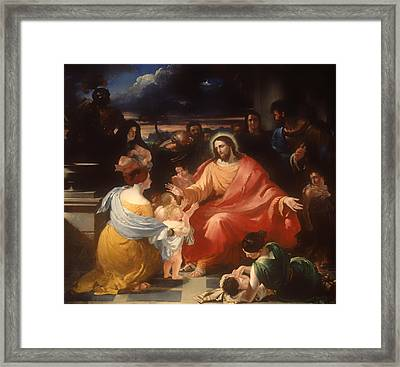Christ Blessing The Little Children Framed Print