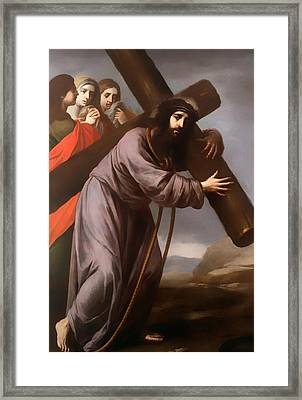 Christ Carrying His Cross Framed Print by Mountain Dreams