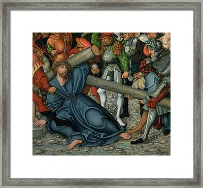 Christ Carrying The Cross Framed Print by Lucas Cranach
