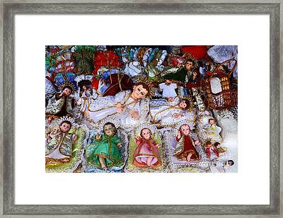 Christ Child Figures For Nativity Scenes Framed Print by James Brunker