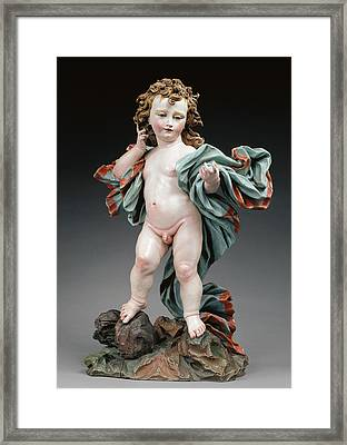 Christ Child Unknown Maker, Italian Genoa Framed Print by Litz Collection
