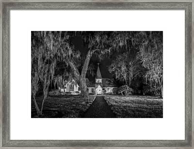 Christ Church Bw Framed Print by Debra and Dave Vanderlaan