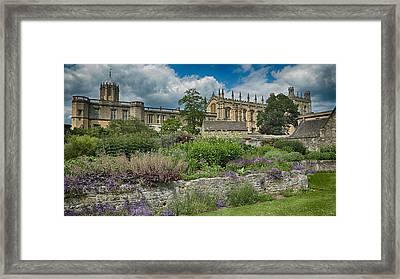 Christ Church College Gardens Framed Print by Stephen Stookey