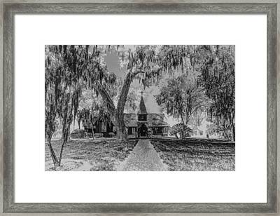 Christ Church Etching Framed Print by Debra and Dave Vanderlaan