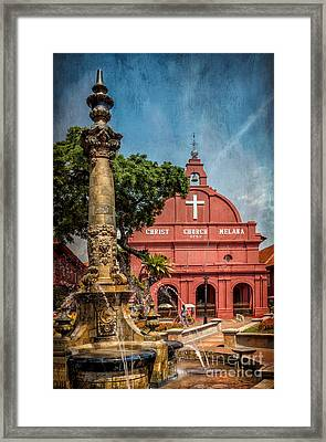 Christ Church Malacca Framed Print by Adrian Evans
