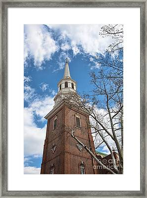 Christ Church Steeple Framed Print by Kay Pickens