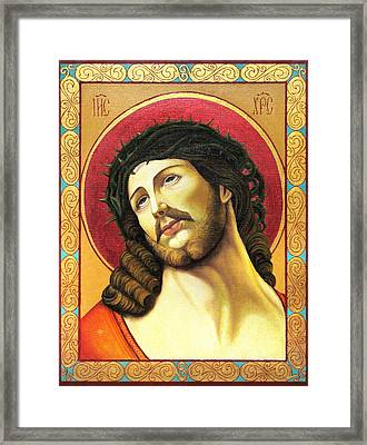Christ Crowned With Thorns Framed Print by Oksana Nabok