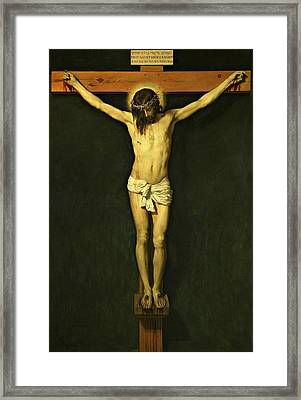 Christ Crucified 1632 By Diego Velazquez Framed Print