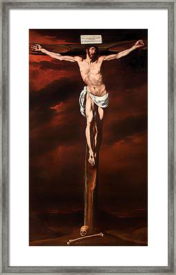 Christ Crucified  Framed Print by Mountain Dreams