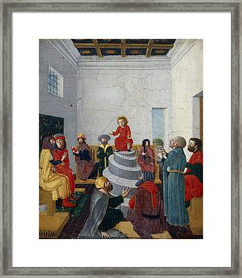 Christ Disputing With The Doctors Oil On Panel Framed Print