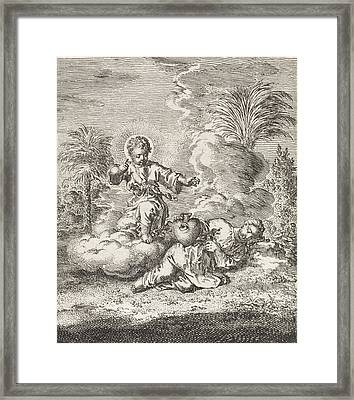 Christ Finds The Personified Soul Asleep Framed Print