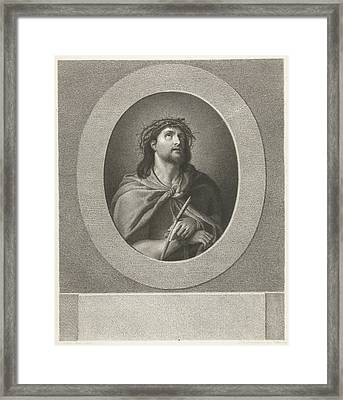 Christ Handcuffed And Wearing Crown Of Thorns Framed Print