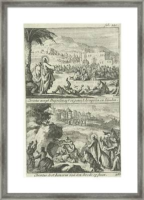 Christ Heals The Sick And The Raising Of Lazarus Framed Print by Quint Lox