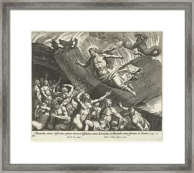 Christ In Limbo, Adriaen Collaert Framed Print