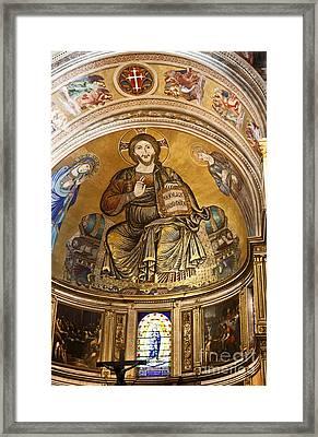 Christ In Majesty  Pisa Duomo Framed Print by Liz Leyden
