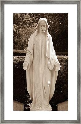 Christ In Openess Framed Print