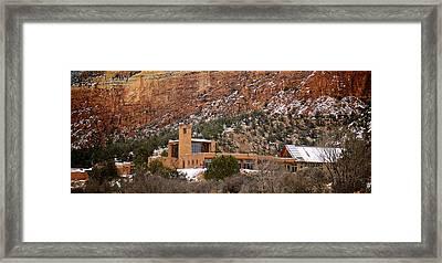 Christ In The Desert Monastery Framed Print