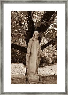 Christ In The Garden Framed Print by Douglas Barnett