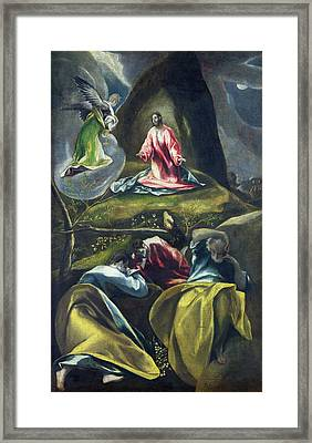 Christ In The Garden Of Olives Framed Print by El Greco