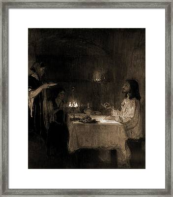 Christ In The Home Of Mary And Martha, Tanner, Henry Framed Print