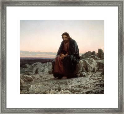 Christ In The Wilderness Framed Print
