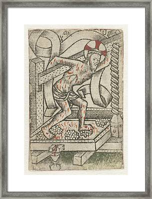 Christ In The Winepress, Meester Van Het Martyrium Der Framed Print by Artokoloro
