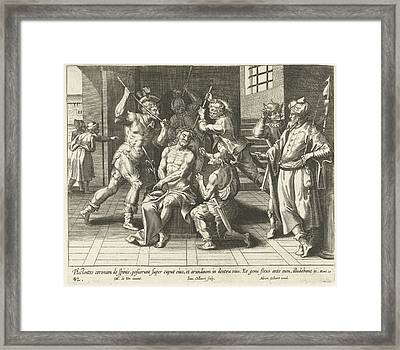 Christ Is Crowned With The Crown Of Thorns Framed Print