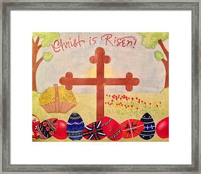 Christ Is Risen Pascha / Easter Framed Print