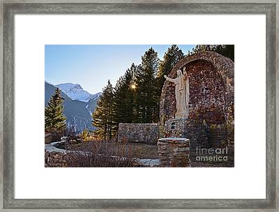Christ Of The Mines Framed Print