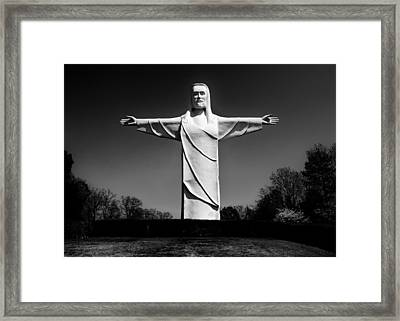 Christ Of The Ozarks Framed Print by Benjamin Yeager
