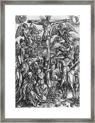 Christ On The Cross Framed Print by Albrecht Durer or Duerer