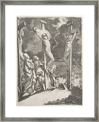Christ On The Cross, Anonymous Framed Print by Anonymous