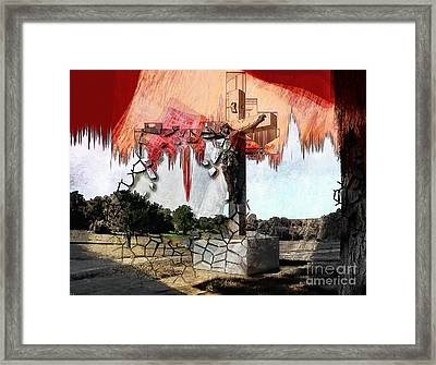 Christ On The Cross Framed Print by Liane Wright
