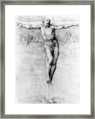 Christ On The Cross Framed Print by Michelangelo Buonarroti