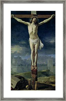 Christ On The Cross Framed Print by Philippe de Champaigne