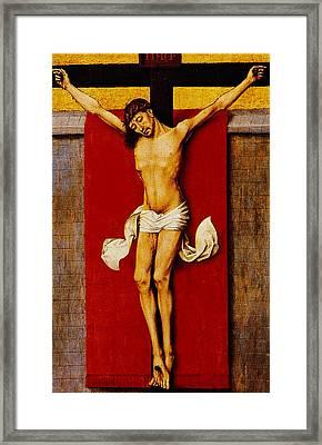 Christ On The Cross Framed Print by Rogier van der Weyden
