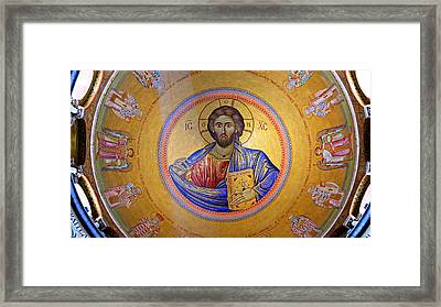 Christ Pantocrator -- No.4 Framed Print by Stephen Stookey