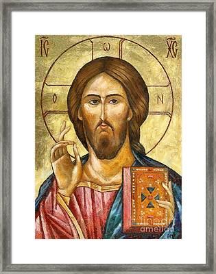 Christ Pantocrator Framed Print by Dragica  Micki Fortuna