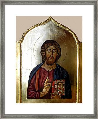 Christ Pantocrator Framed Print by Filip Mihail