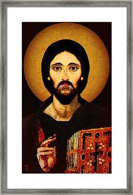 Christ Pantocrator Framed Print by Li   van Saathoff