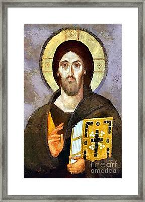 Christ Pantocrator Of Sinai Framed Print