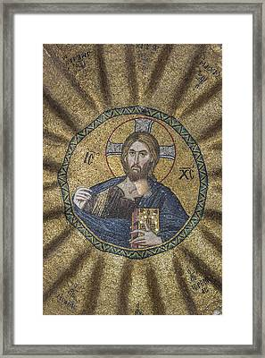 Christ Pantocrator Surrounded By The Prophets Of The Old Testament 2 Framed Print by Ayhan Altun
