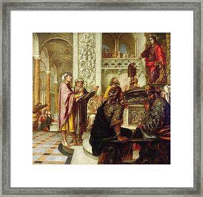 Christ Preaching In The Temple Framed Print