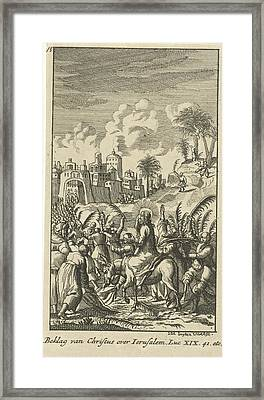 Christ Predicts The Destruction Of Jerusalem Framed Print by Anonymous